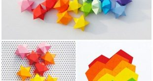 Cut + fold paper stars