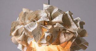 Pendant Lamp, Book Paper Lamp, Ceiling light, light Pendant, Reading Office Decor