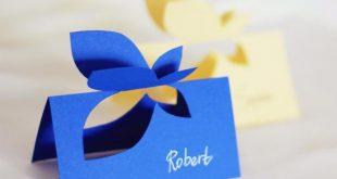 Schmetterling Platzkarten mit handgeschriebenen Namen, 10er-set. Event-Karten, Dekorationen, Hochzeit Tischkarten Karten, Schmetterling Tischkarte