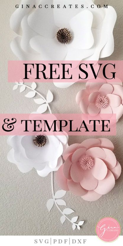 photo about Free Printable Paper Flower Template named Free of charge SVG Printable Paper Flower Template - Paper Suggestions