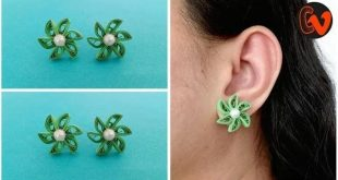 How To Make Quilling Stud Earrings Tutorial. Paper Quilling Earrings. Design 37