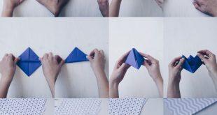 DIY Tischdeko zur Taufe mit Booten - Papierboote falten - Origamit Boote