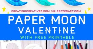Paper Plate Moon for Valentine's Day