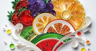 quilled, quilling, art, paper art, pineapple, strawberry, kiwi, quilling paper a...