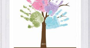 Family Tree Handprint Wall Art 11 x 14 801_pap