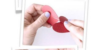 Flamingo Pink Heart Paper Napkin Rings Party Decorations Set of 10 Valentine's Day Wedding Decor Romantic Table Decor Pink Napkin Rings HT11