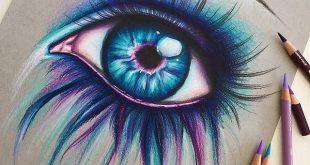 •Hallo zusammen! • hier ist noch ein farbenfrohes Auge! das war irgendwie nur ein