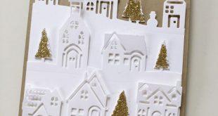 Karte mit Winterstädtchen – Weihnachten ist, wenn das Herz nach Hause kommt! ...