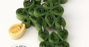 Olive Green Geometric Earrings, Paper Jewelry gift for Niece, Bohemian Tribal earring, Long Dangle Drops, Bold Statement Fashion Jewellery