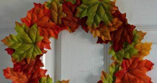Paper plate Autumn/Fall leaf wreaths