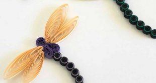Quilling Paper Dragonfly ~ Bilden Sie Ihren eigenen bitteren, fliegenden Sommerf...