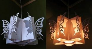 Shadow star lamp - how to make a spherical lampshade covered with flowery stars ...