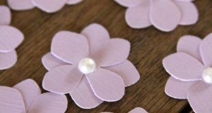 10 Handmade Paper Flowers in Light Purple, Easter Flowers, Spring Flowers