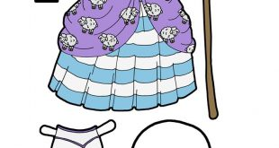 A Little Bo Peep Activity Printable For Kids- A Paper Doll Costume
