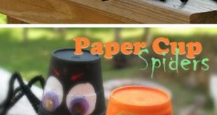 Awesome DIY Halloween Crafts for Kids to Make - Spider Cups