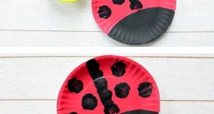 Einfache Pappteller Marienkäfer Handwerk für Kinder im Vorschulalter und älte...