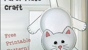 Hanging Cat Paper Plate Craft for Kids from www.daniellesplac...