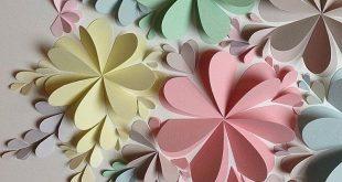 Herrliche DIY Papierblume Wandkunst - Free Guide und Vorlagen