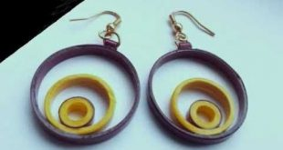 How-to make paper quilling jewellery earrigs beginers professionals.paper jewelr...