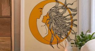 Nadja Sun And Moon Kunstdruck / Poster #kunstdruck #nadja #paintingartideas #pos...