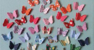 Schmetterlinge fliegen, fliegen weg: Diese Art von Papierschneidprojekt mit der ...