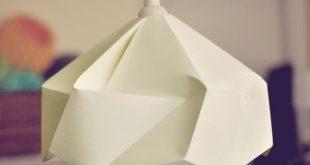 Snowflake Origami Paper Lamp Shade / Lantern White von FiberStore, $50,00