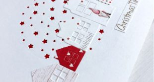 papierZART: I'm dreaming of a white Christmas... Weihnachtskarte, weiße W...